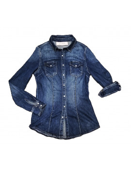 Camicia manga denim