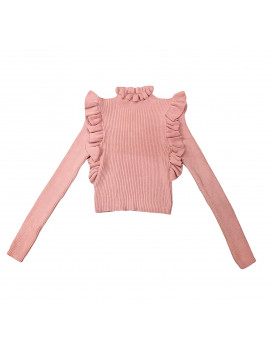 PULL CLEAN WOOL ROSA
