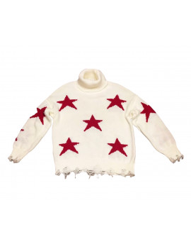 PULL  STARS  WOOL PANNA/ROSSO