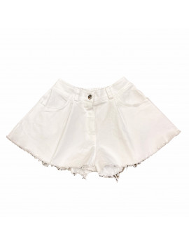 SHORT FLY DENIM WHITE